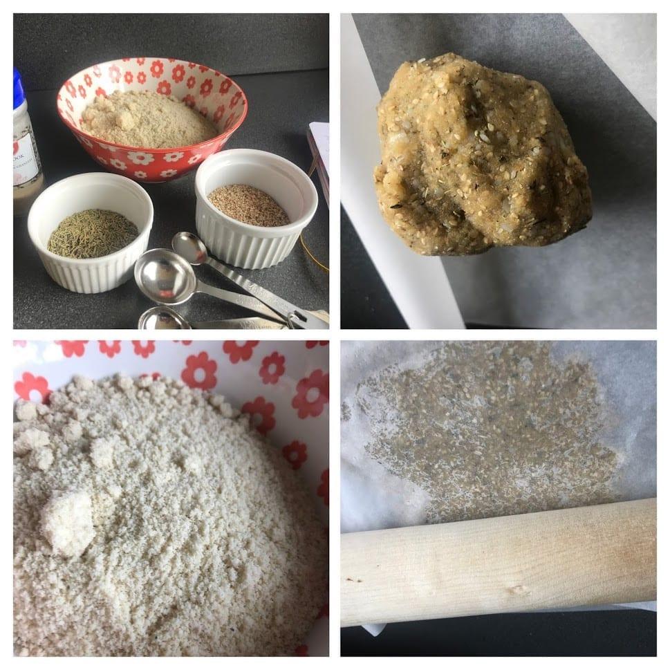Amandelmeel crackers maken.