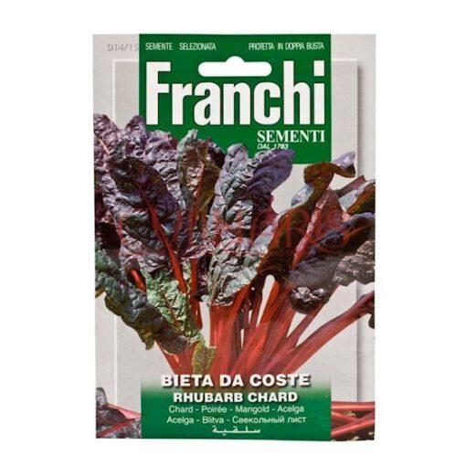 Grofbladige rode snijbiet. Snijbiet - warmoes - is een oude groente die je zelden bij de groenteboer tegenkomt. Heerlijke malse bladeren die hetzelfde gebruikt worden in de keuken als spinazie. De bladstelen zijn bruikbaar om te stoven als een soort asperges. Hoogte 30-50 cm Vergeten groente